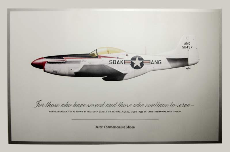 Metallic Dry Ink Airplane Image